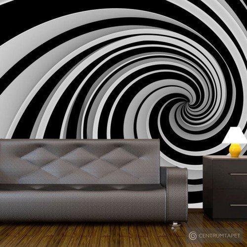 Fototapeta Black and white swirl 100401-14