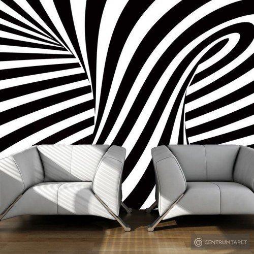 Fototapeta op art: czarno-biały 100401-22
