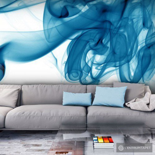 Fototapeta Niebieski dym 100401-37