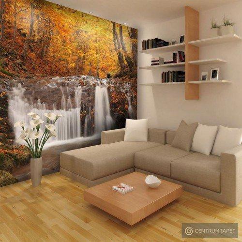 Fototapeta Autumn landscape : waterfall in forest 100403-163