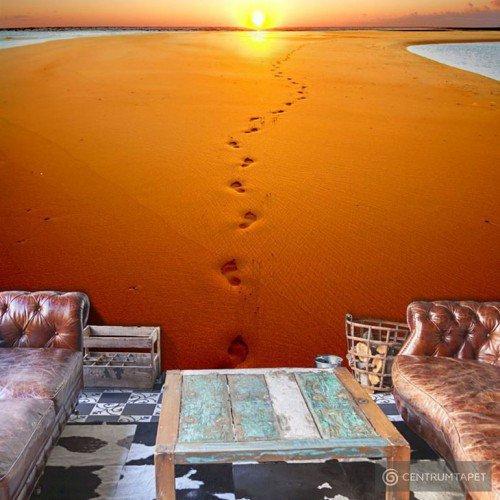 Fototapeta Ślady stóp na piasku 100403-58