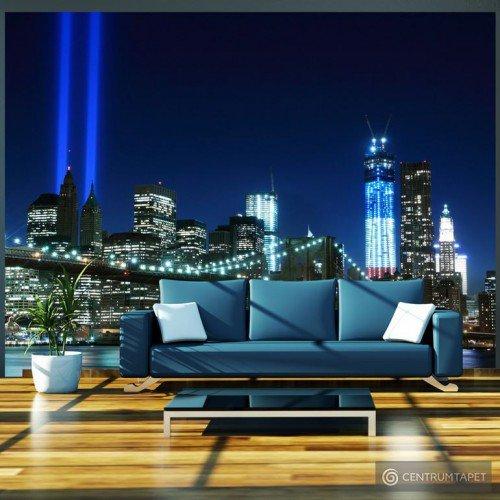 Fototapeta Floodlights over NYC 100404-144