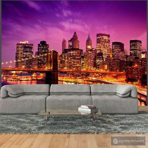 Fototapeta Manhattan i Most Brookliński nocą 100404-4