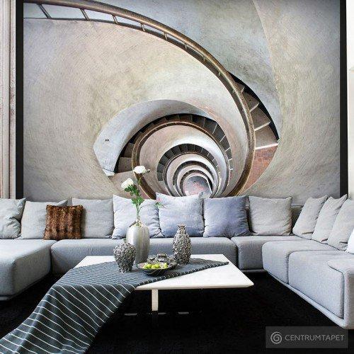 Fototapeta White spiral stairs 100404-90