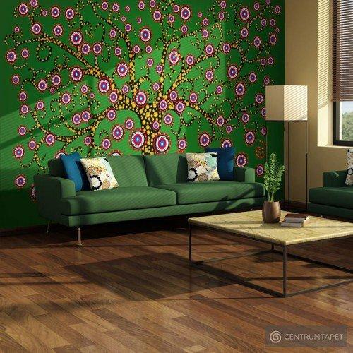 Fototapeta Abstrakcja: drzewo (zielony) 10040901-44