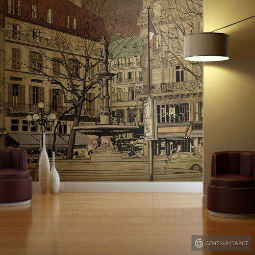 Fototapeta Parisian fountain 10040904-48