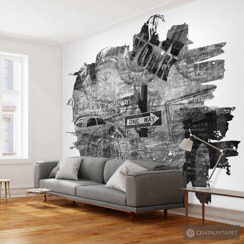 Fototapeta Black-and-white New York collage 10040904-58
