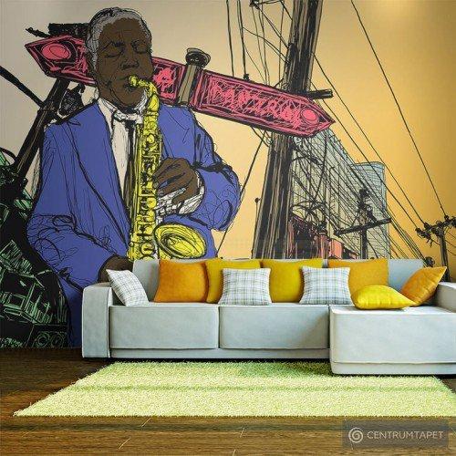 Fototapeta Saxophonist in New York 10040904-69