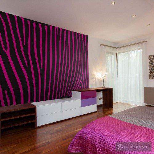 Fototapeta Zebra pattern (fioletowy) 10040905-125