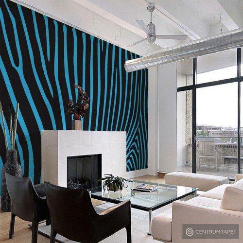 Fototapeta Zebra pattern (turkus) 10040905-126