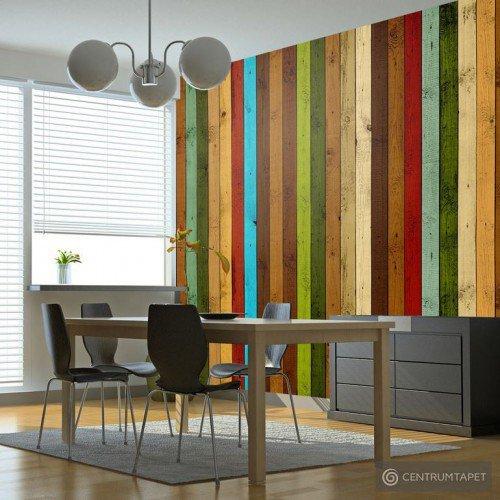 Fototapeta Wooden rainbow 10040905-130