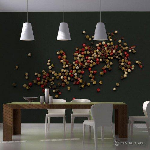 Fototapeta Kompozycja z kolorowego pieprzu 10040908-11