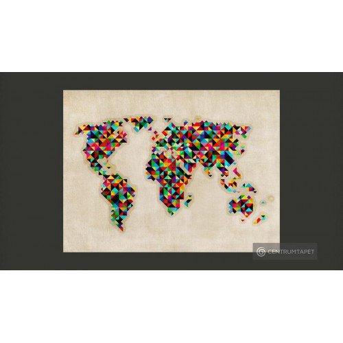 Fototapeta World Map - a...
