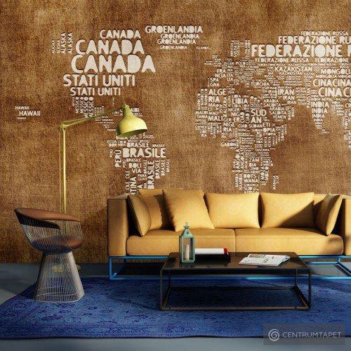 Fototapeta Antyczna włoska mapa 10040910-31