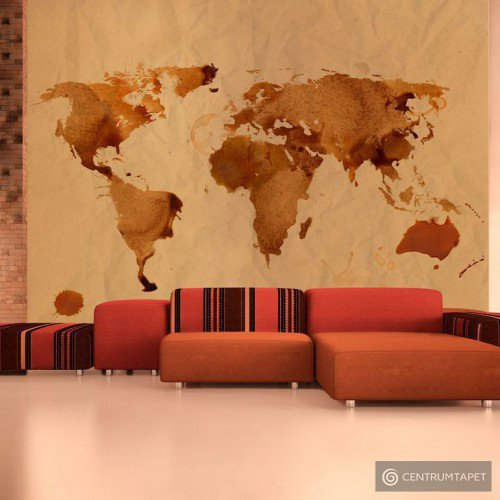 Fototapeta Herbaciana mapa świata 10040910-4