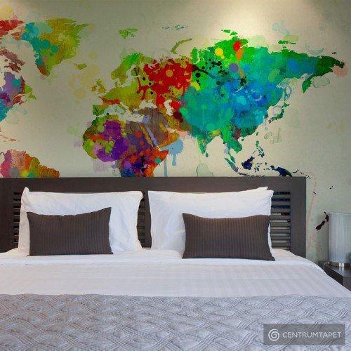 Fototapeta Paint splashes map of the World 10040910-79