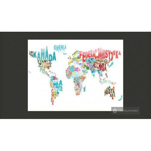Fototapeta Mapa - świat (po...