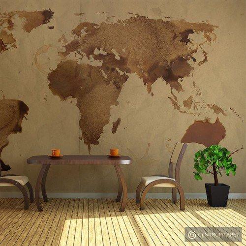 Fototapeta Herbaciana mapa świata 10060910-1