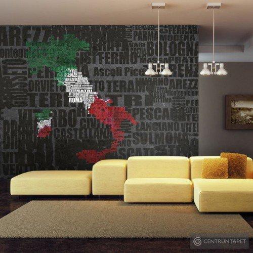 Fototapeta Text map of Italy 10060910-11