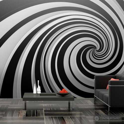 Fototapeta Black and white swirl 100701-1