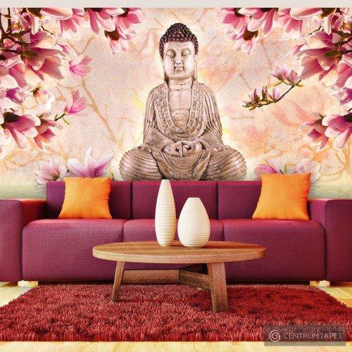 Fototapeta Budda i magnolia 10070907-2