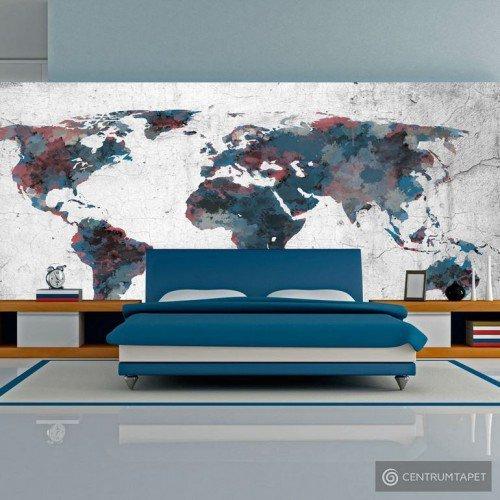 Fototapeta World map on the wall 10070910-2