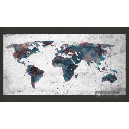Fototapeta World map on the...