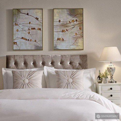 Obraz 2-częściowy ręcznie malowany 102413 Ptaki na gałęzi Graham&Brown