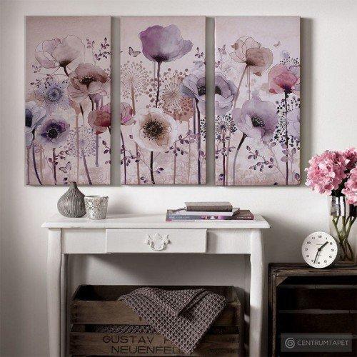 Obraz 3-częściowy 41-544 Kwiaty Graham&Brown