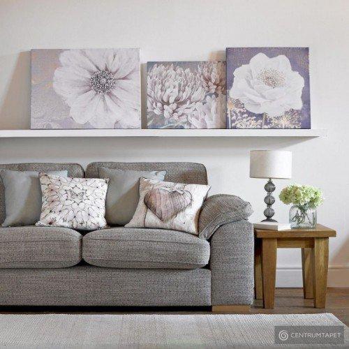 Obraz 41-712 Szary kwiat...