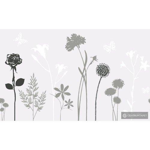 Okleina statyczna kwiaty 216-0021 45cm