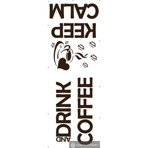 Naklejka ścienna SPN67TD Keep Calm and Drink Coffee