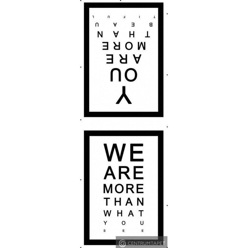 Naklejka ścienna SPN68WD Napisy We Are & You Are