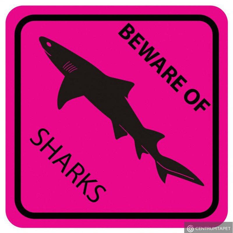 Naklejka ścienna SPN86WS Pink Shark