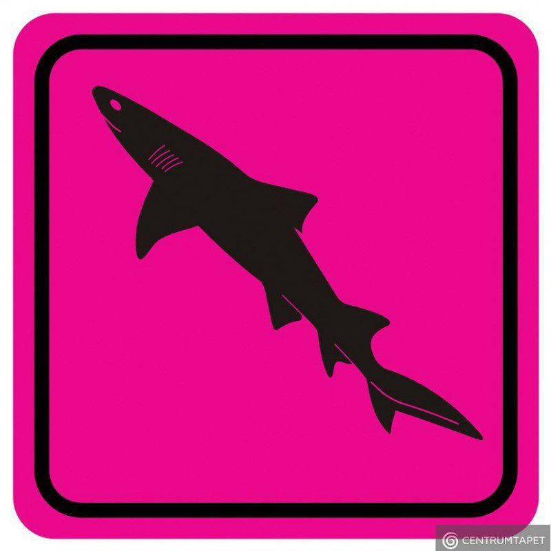 Naklejka ścienna SPN87WS Pink Shark II