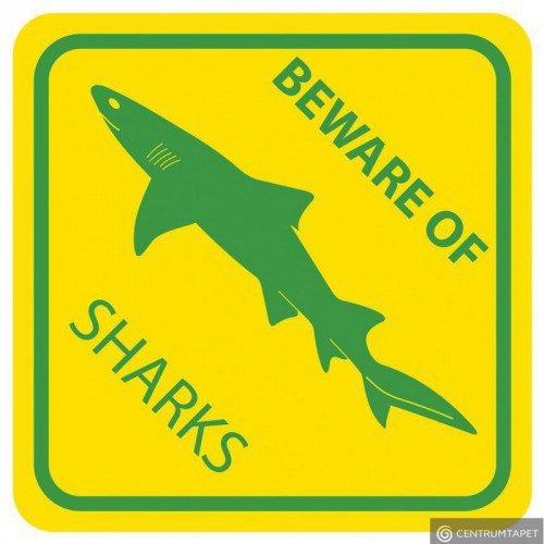 Naklejka ścienna SPN89WS Beware of Sharks
