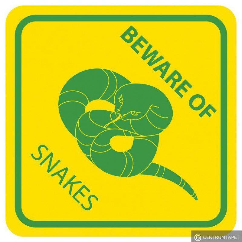 Naklejka ścienna SPN90WS Beware of Snakes