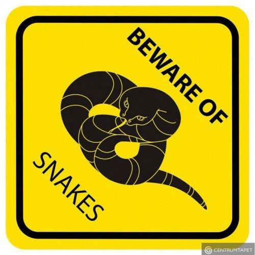Naklejka ścienna SPN92WS Green Beware of Snakes