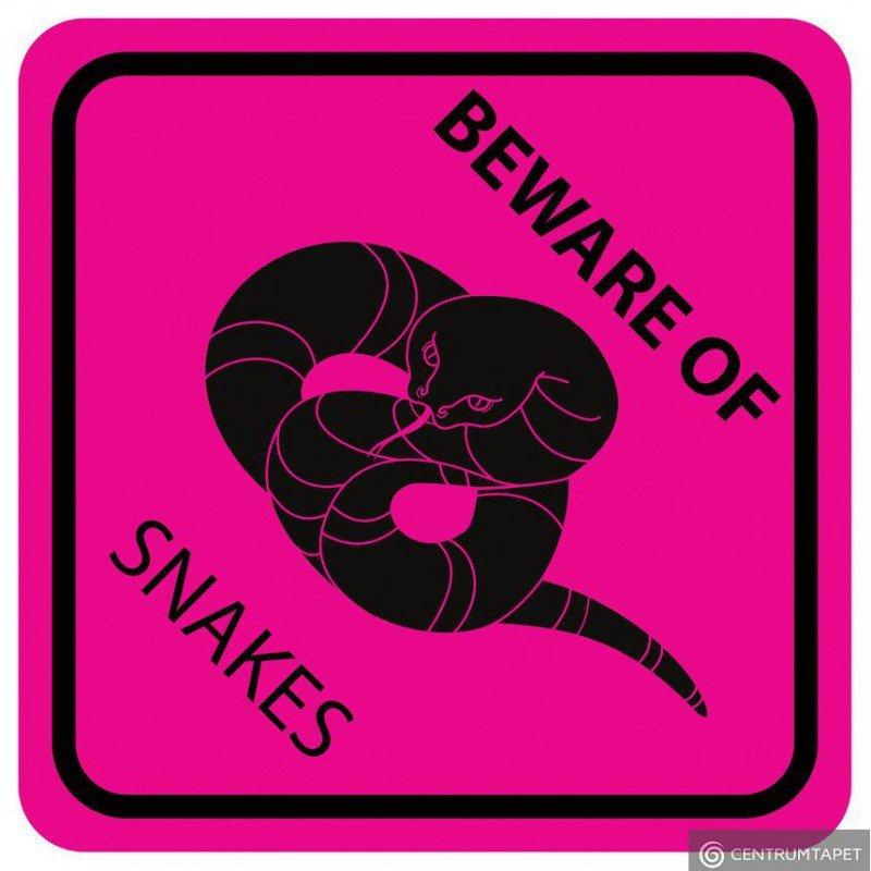 Naklejka ścienna SPN94WS Pink Beware of Snakes