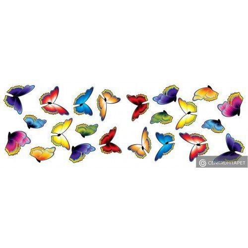 Naklejka ścienna Kolorowe Motyle SPN137WD