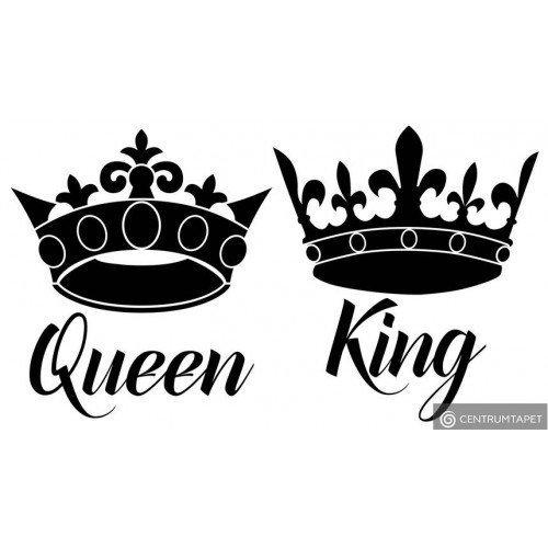Naklejka ścienna Queen & King SPN167TS