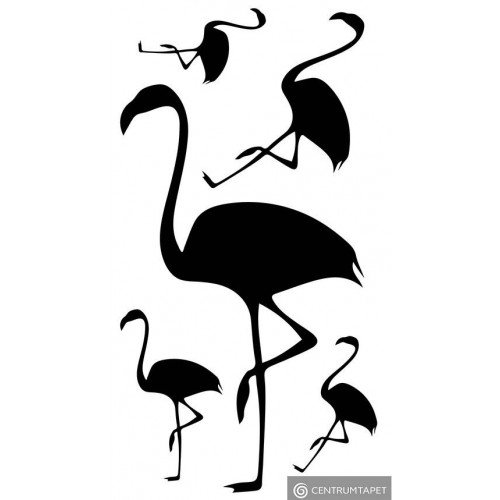 Naklejka ścienna Flamingi SPN181TS