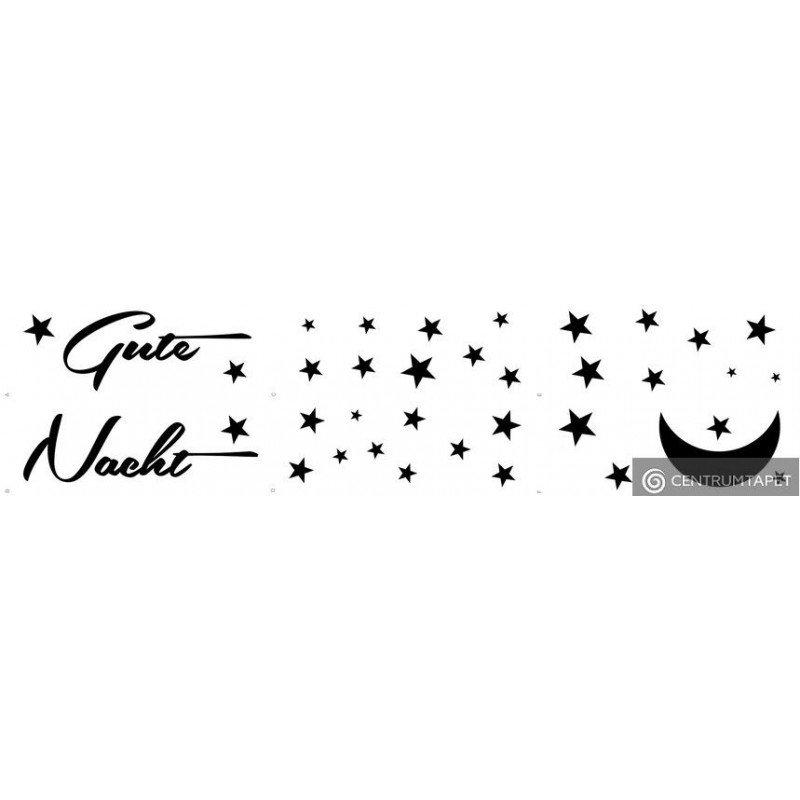 Naklejka ścienna Gute Nacht SPN119T6