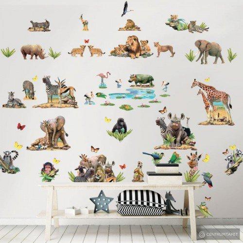 Zestaw naklejek do dekoracji pokoju 45439 Dżungla Safari