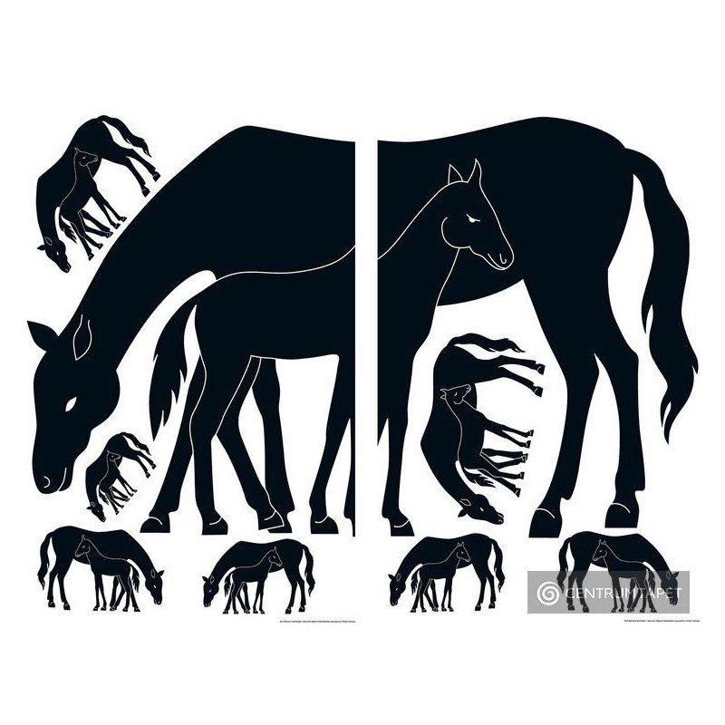 Naklejka ścienna 74107 Mare and Foal