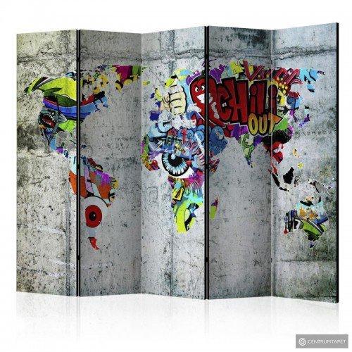 Parawan 5-częściowy - Świat...