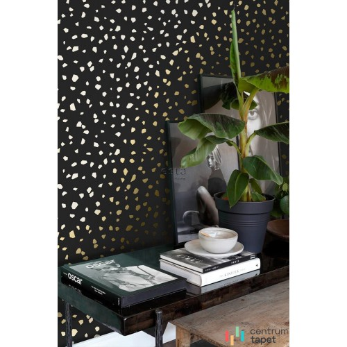 Tapeta 139134 Black & White with a splash of gold Esta Home