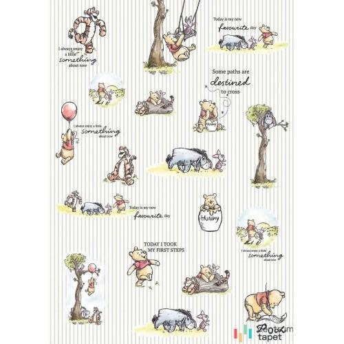 Fototapeta DX4-001 Winnie Pooh - Stripes