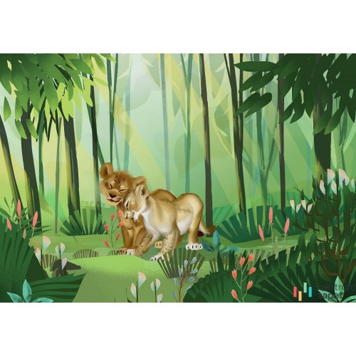 Fototapeta DX8-029 Lion King Love