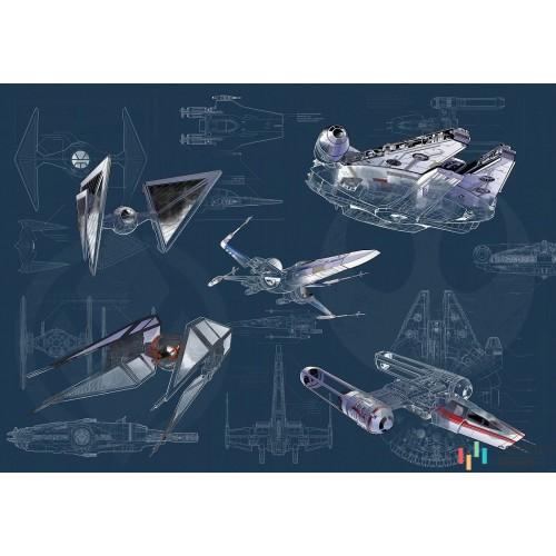 Fototapeta DX8-077 Star Wars Blueprint Dark